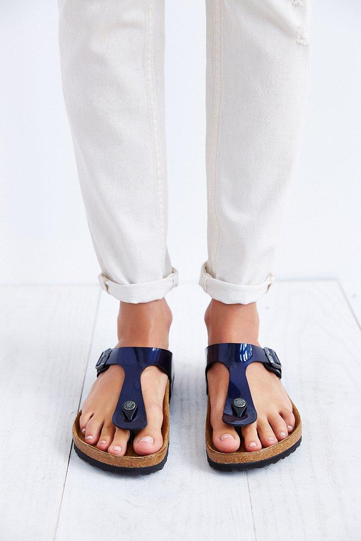 Lyst Birkenstock Gizeh Thong Sandal In Blue