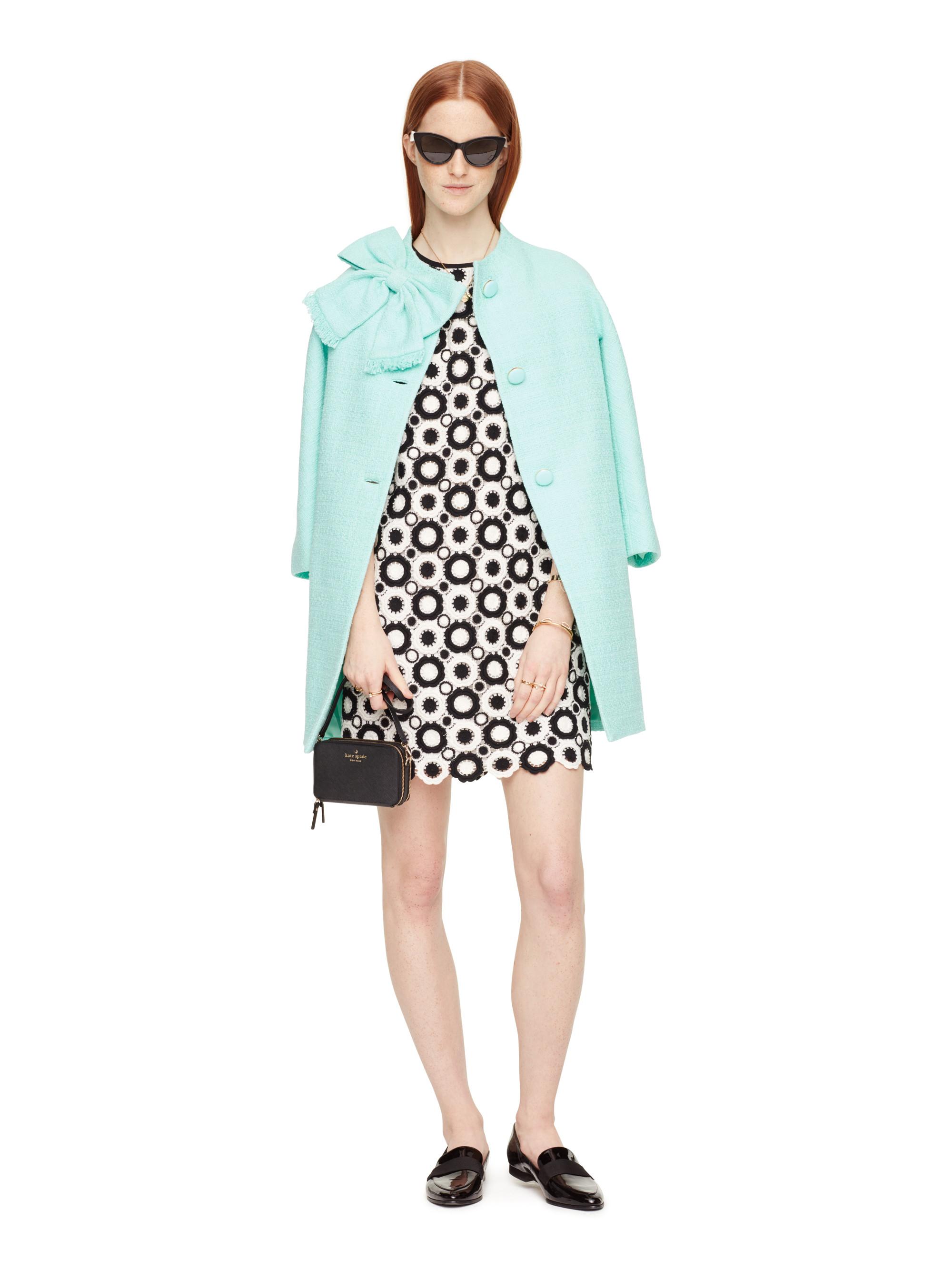 Kate Spade New York Tweed Dorothy Coat In Green Lyst