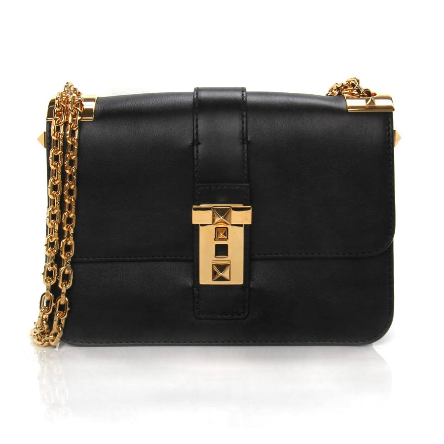 Valentino Chain-Strap Shoulder Bag in Black | Lyst