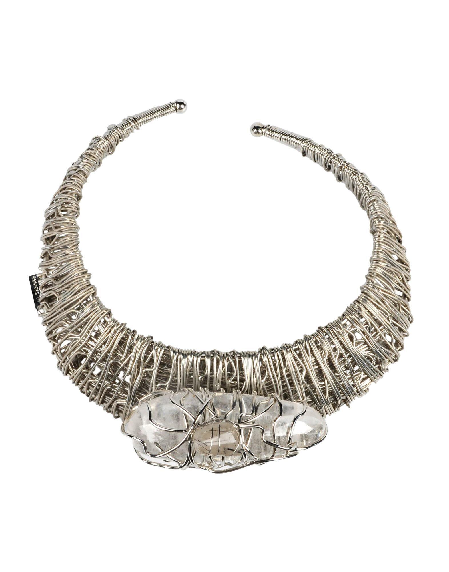 jil sander necklace in metallic lyst