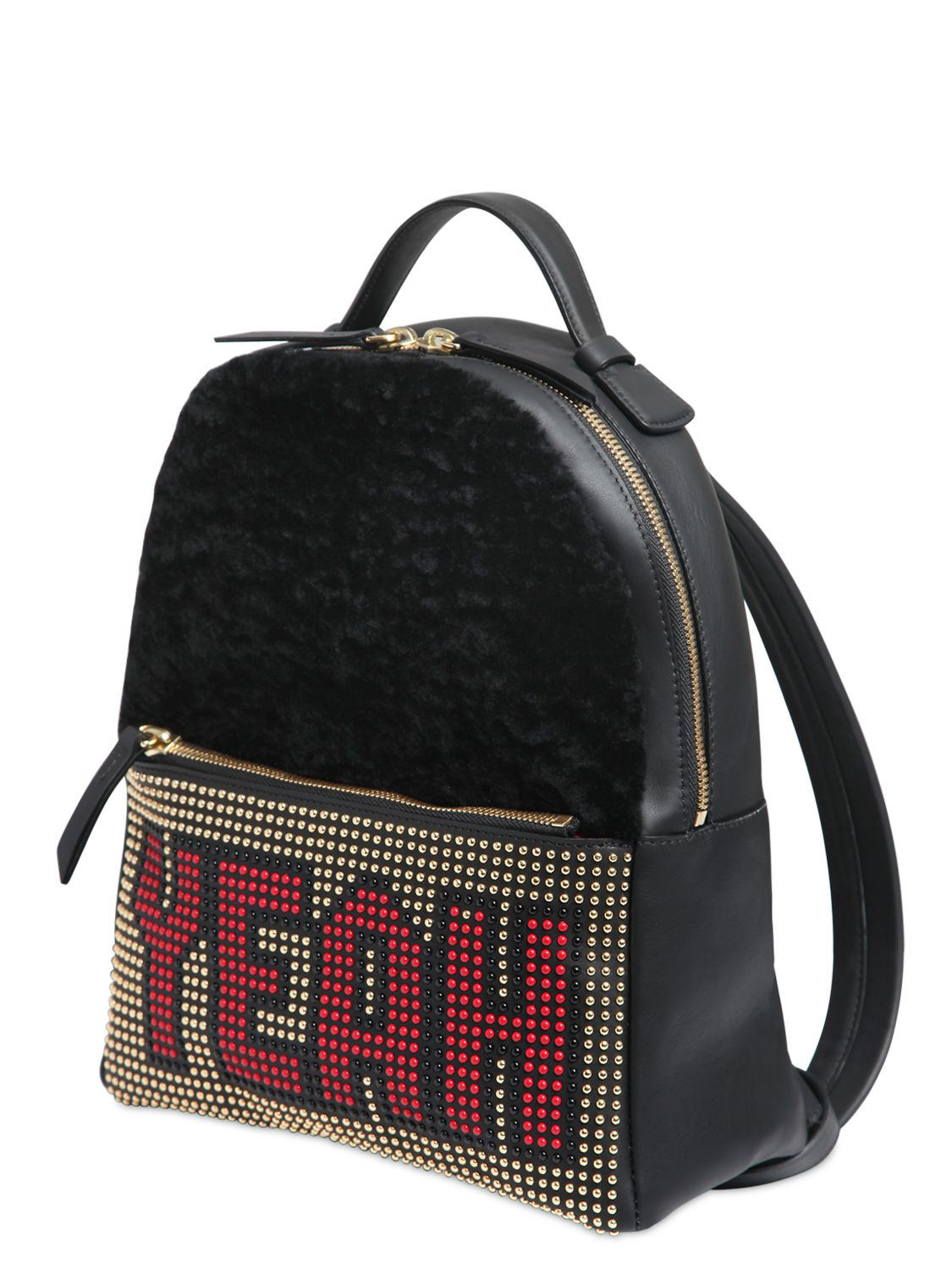 Lyst Les Petits Joueurs Mick Yeah Leather Backpack In Black