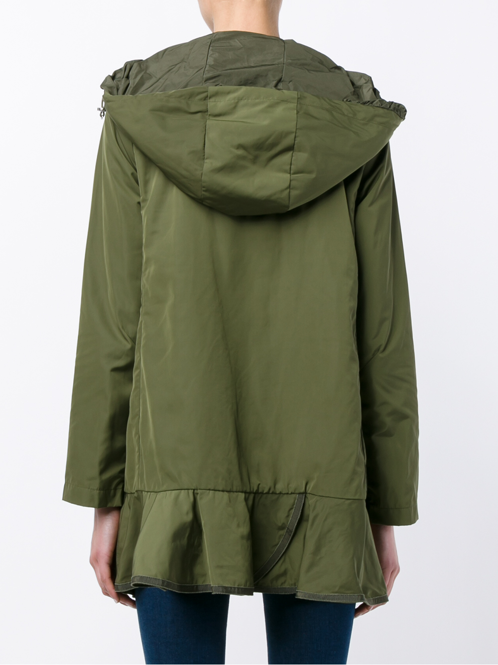 Lyst Moncler Chevaine Floune Hem Shell Parka Jacket In Green