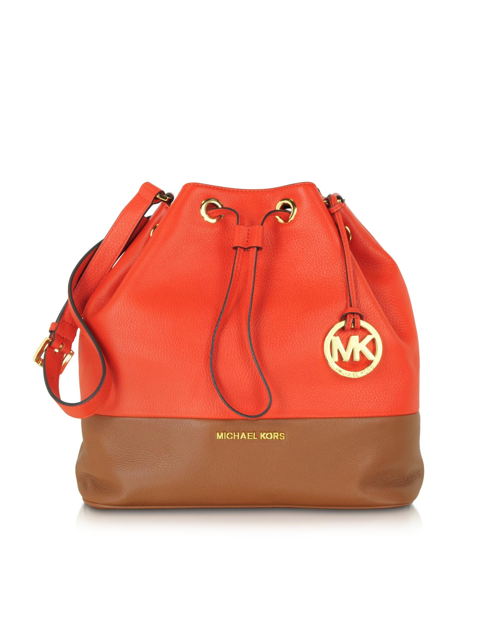 b10a3800d38b Michael Kors Jules Large Color-Block Shoulder Bag in Red - Lyst