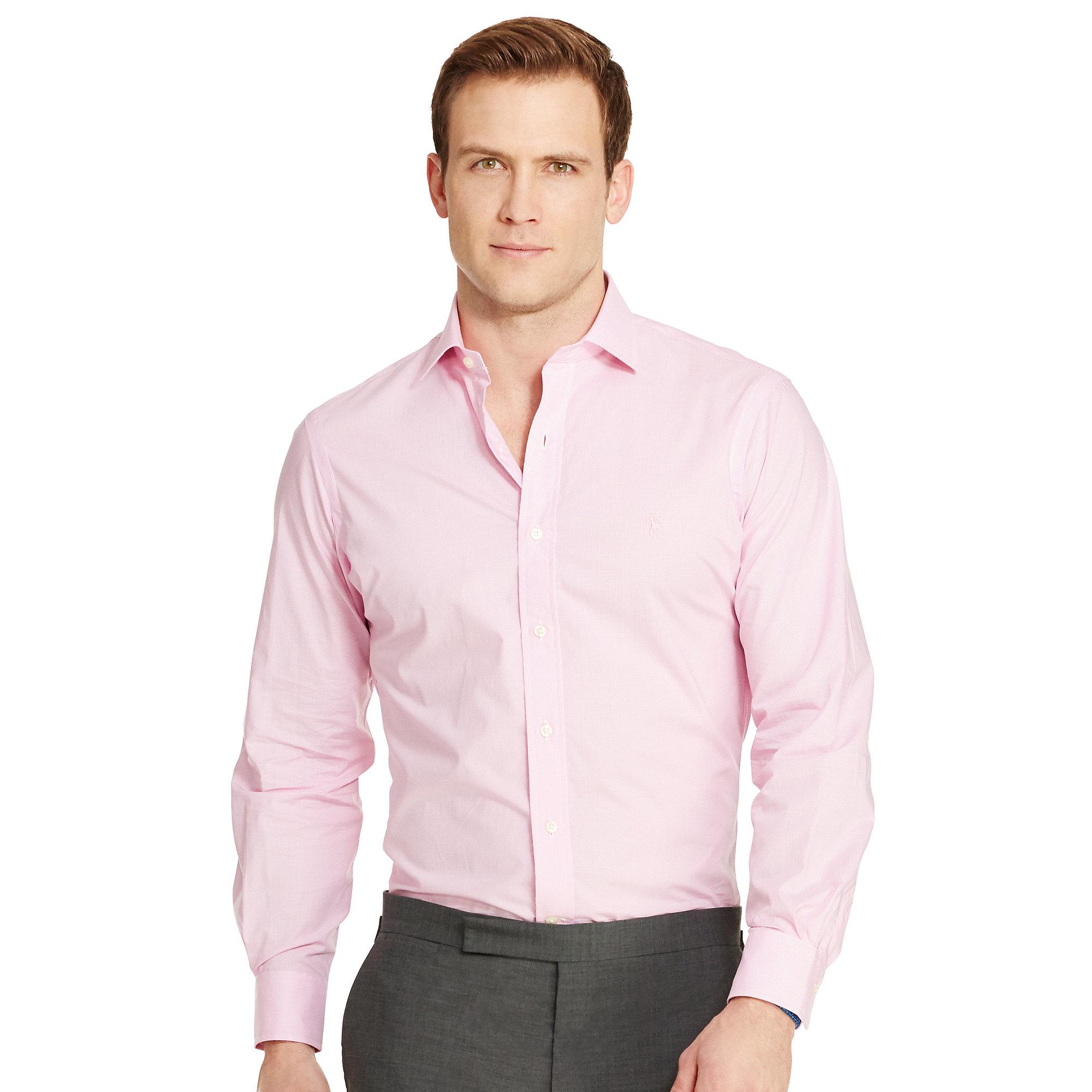 Lyst Polo Ralph Lauren Estate Gingham Dress Shirt In Pink For Men