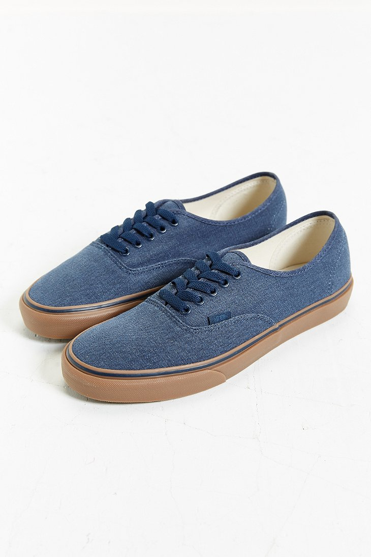 4efd1d68f5 Lyst - Vans Authentic Washed Gum Sole Sneaker in Blue for Men