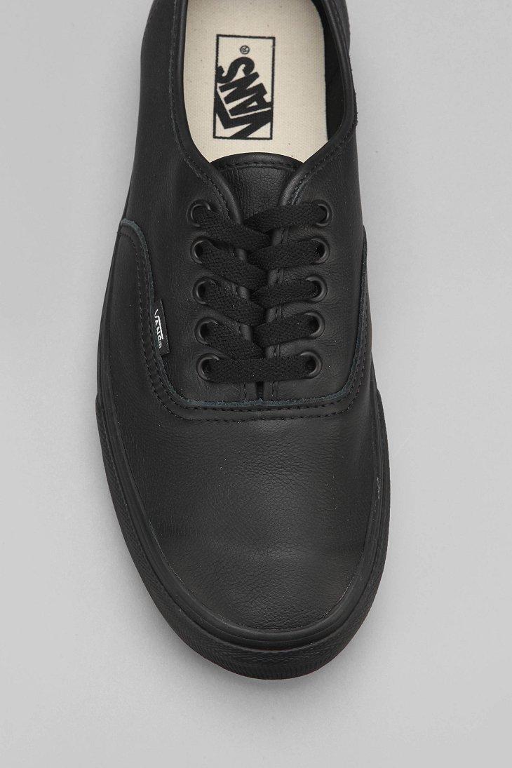 7a26659d67 Lyst - Vans Authentic Italian Leather Monochromatic Sneaker in Black ...