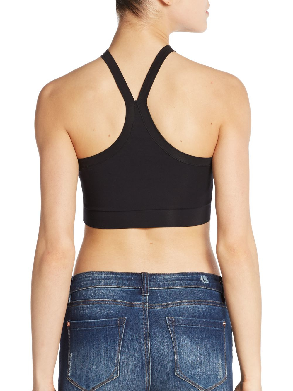 be451f6ba8bff8 Lyst - Helmut Lang Stretch-jersey Crop Top in Black