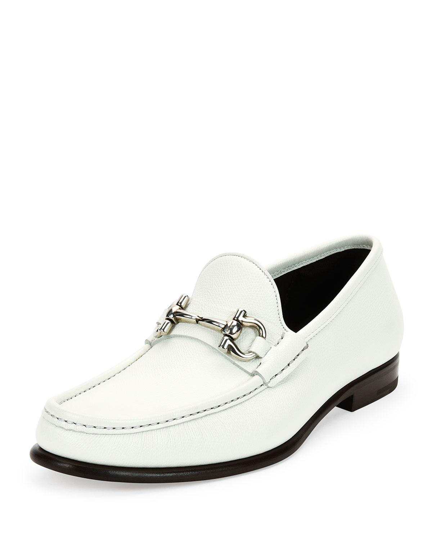 fc310ebba8b Lyst - Ferragamo Mason Textured Calfskin Gancini Loafer in White for Men