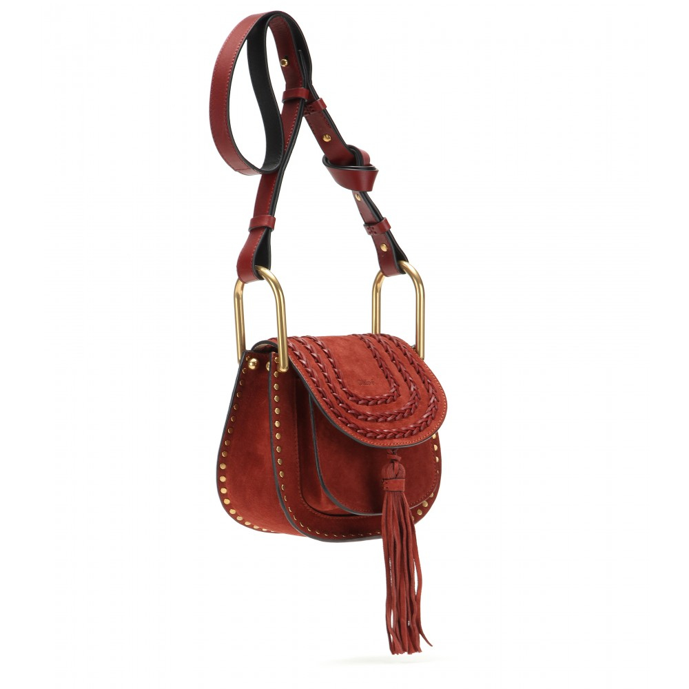 replica chloe bags - Chlo�� Hudson Small Suede Shoulder Bag in Red (sienna red height ...
