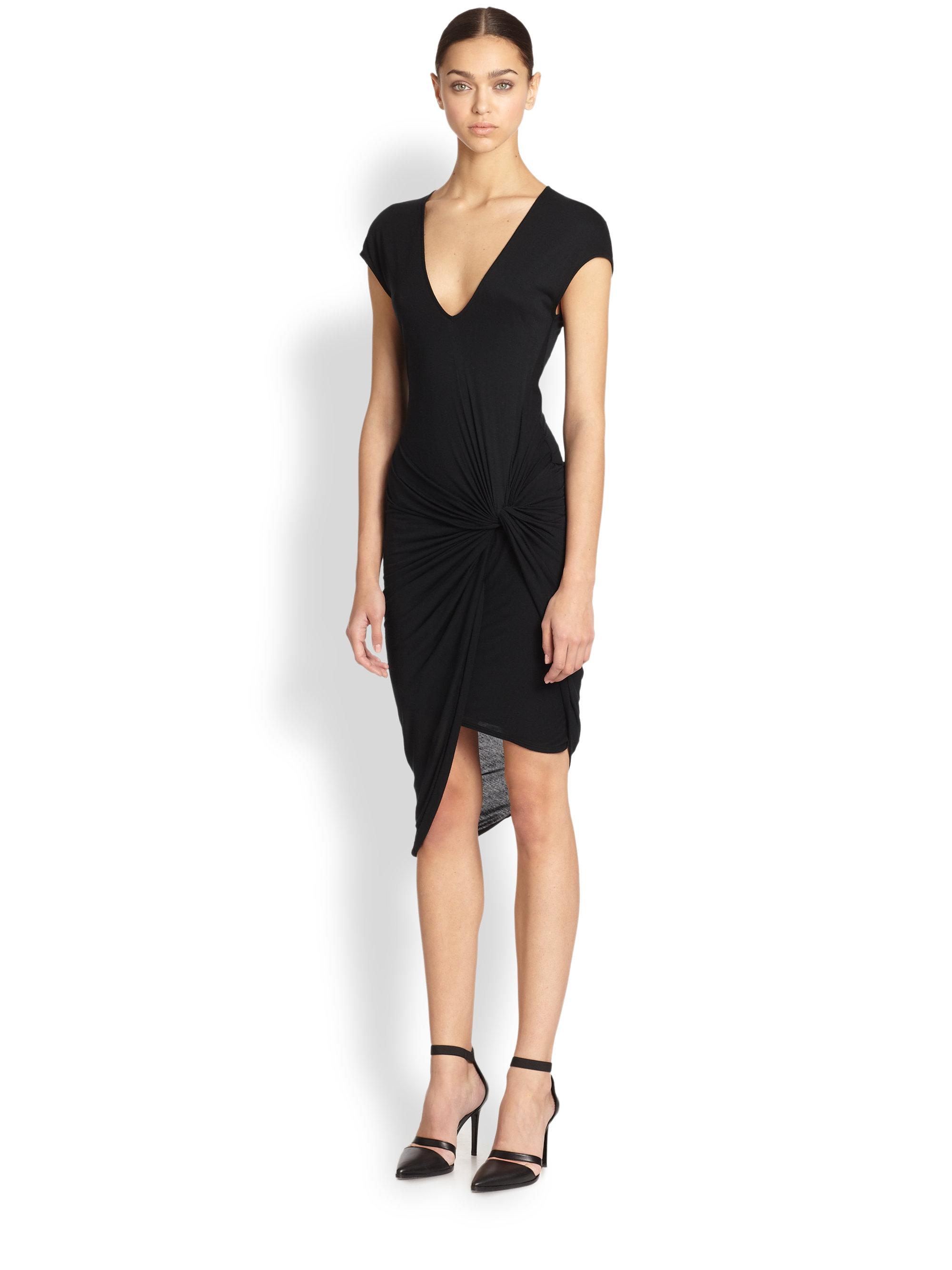 Helmut lang long black dress