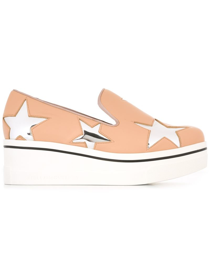 1114b9257 Stella McCartney  star Binx  Slip-on Loafers in Pink - Lyst