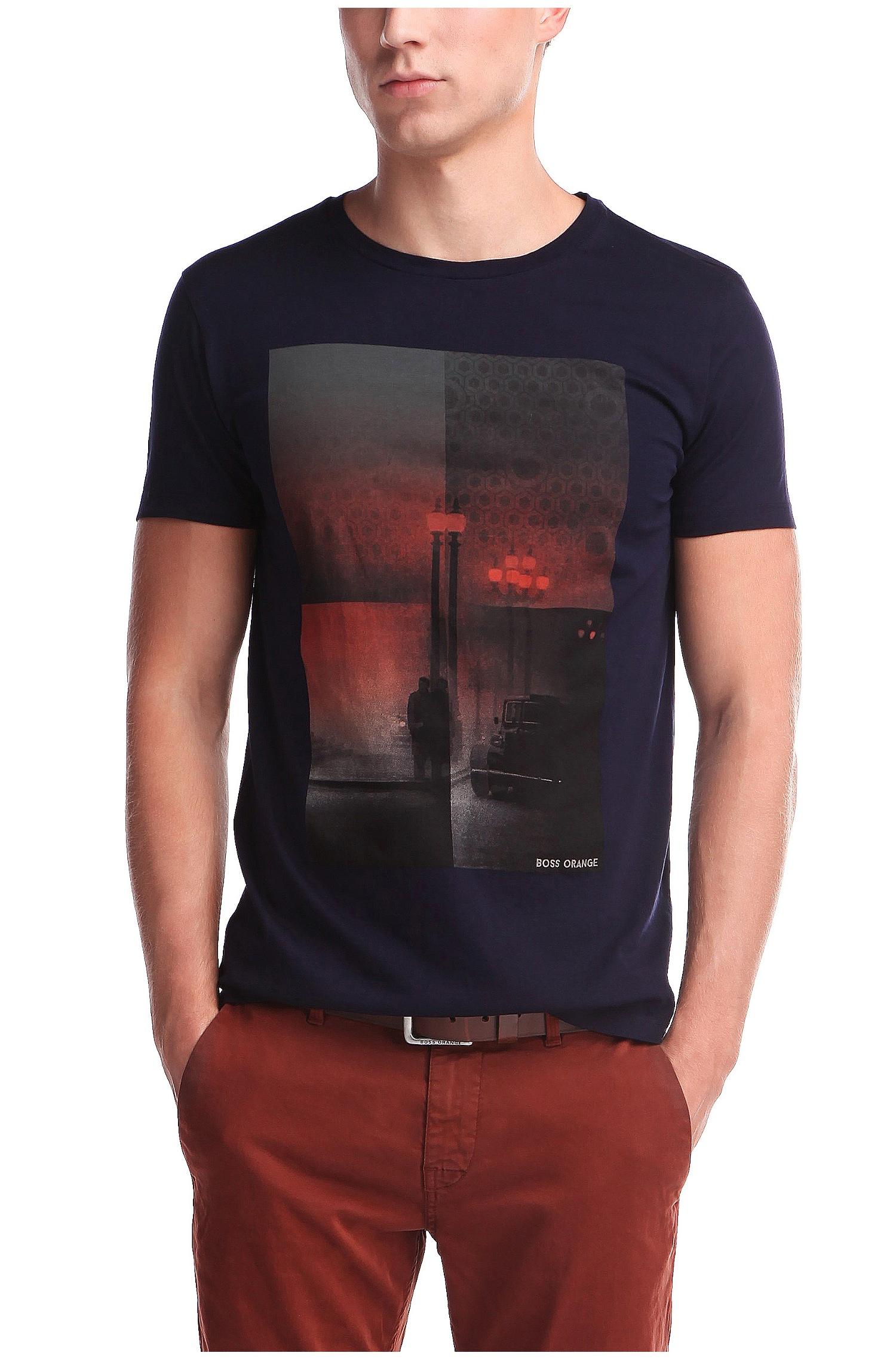 f710c1278 BOSS Orange T-shirt 'thiemon 1' In Cotton in Blue for Men - Lyst