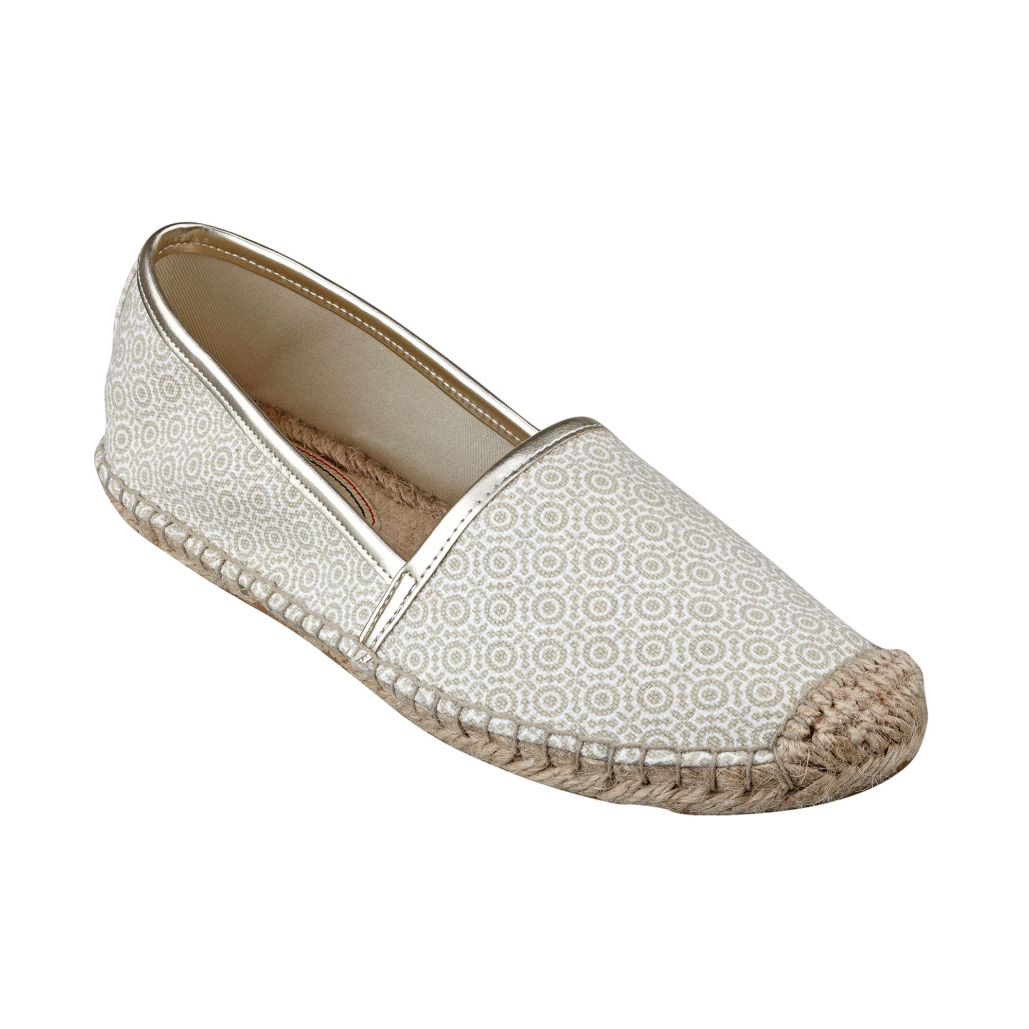 tommy hilfiger womens heyda espadrille flats in white lyst. Black Bedroom Furniture Sets. Home Design Ideas