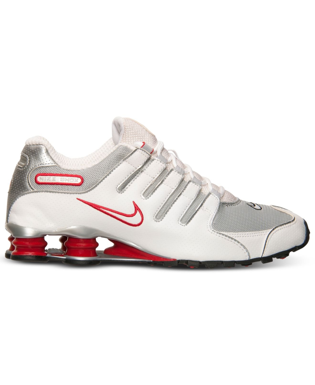 new arrival 635c0 e5516 Nike Men s Shox Nz Running Sneakers From Finish Line in White for ...