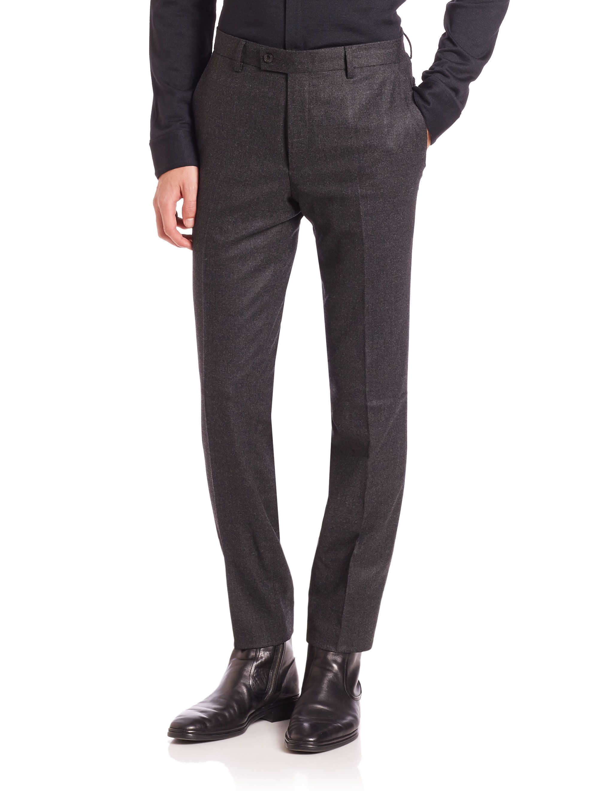 John varvatos Austin Slim-fit Dress Pants in Gray for Men | Lyst