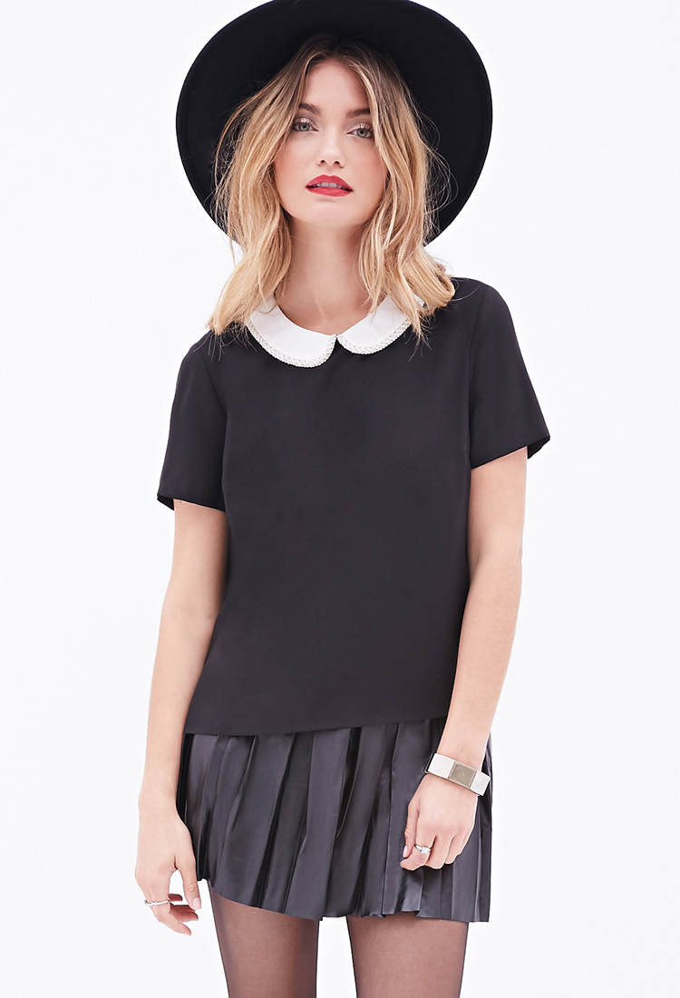 Lyst Forever 21 Contemporary Beaded Peter Pan Collar