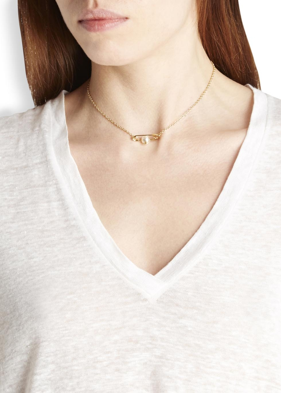 Vivienne Westwood Jordan Gold Plated Faux Pearl Necklace