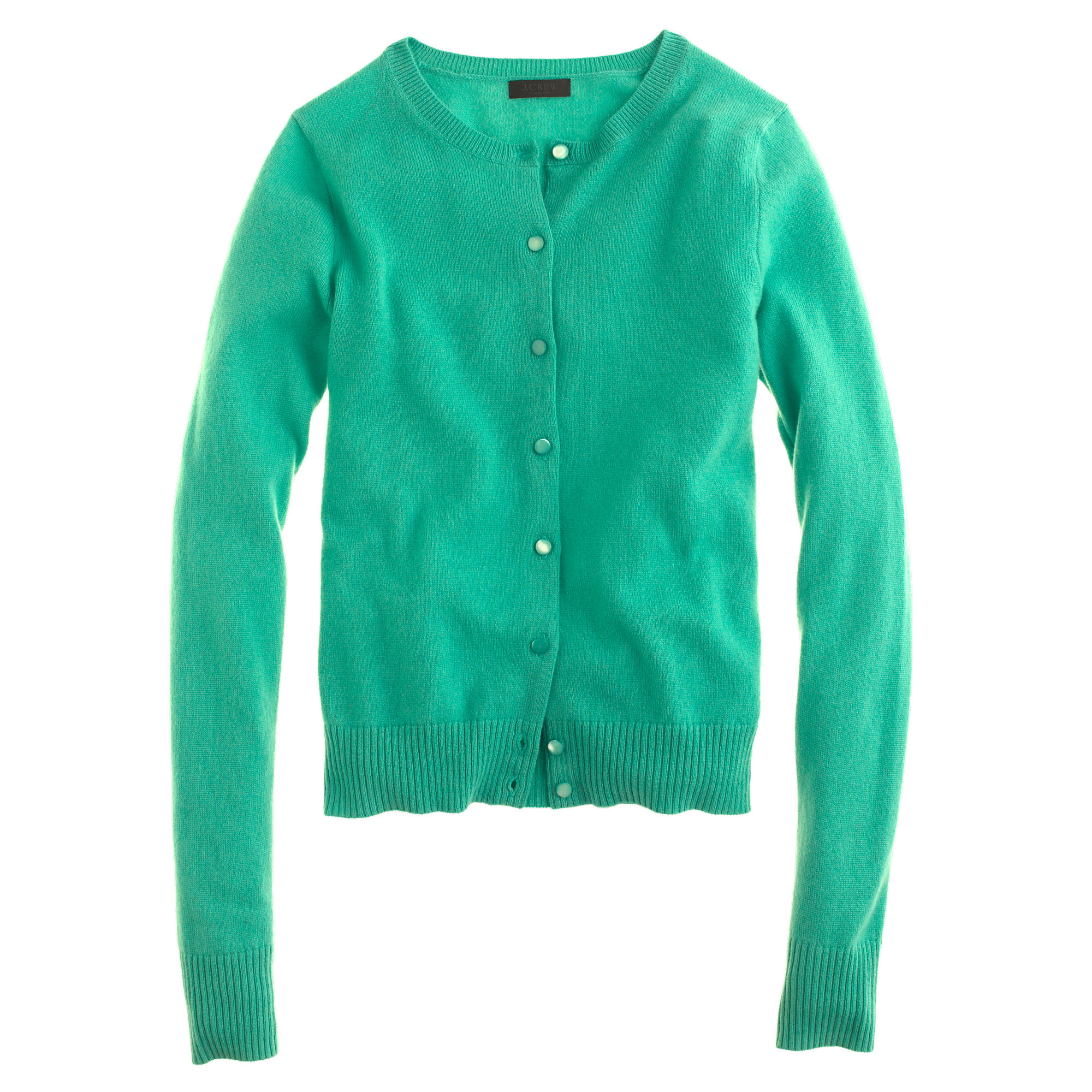 J.crew Collection Cashmere Cardigan Sweater in Green