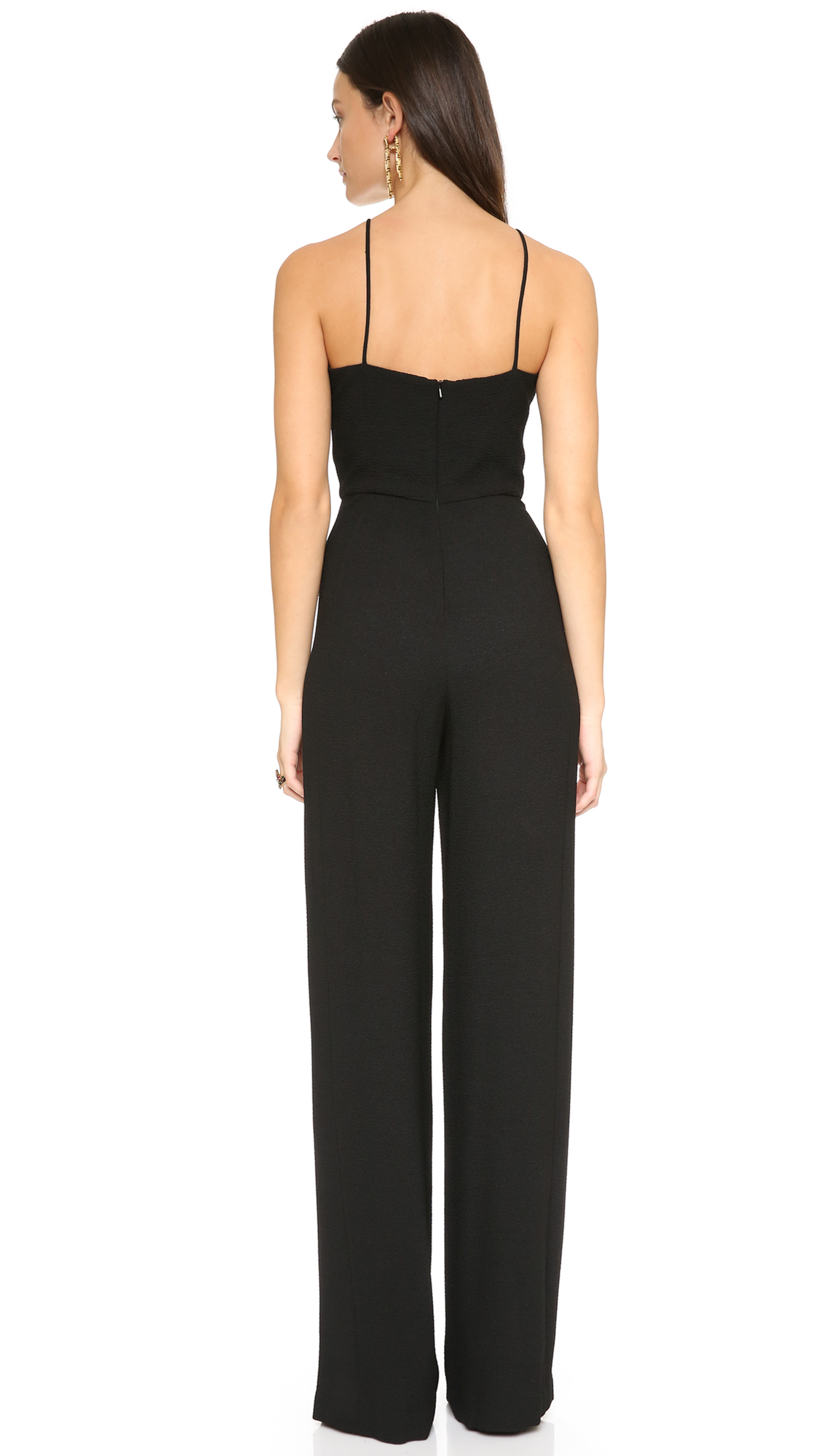 Model NEW Bird Keepers Womens Jumpsuits The Overlay Jumpsuit Black | EBay