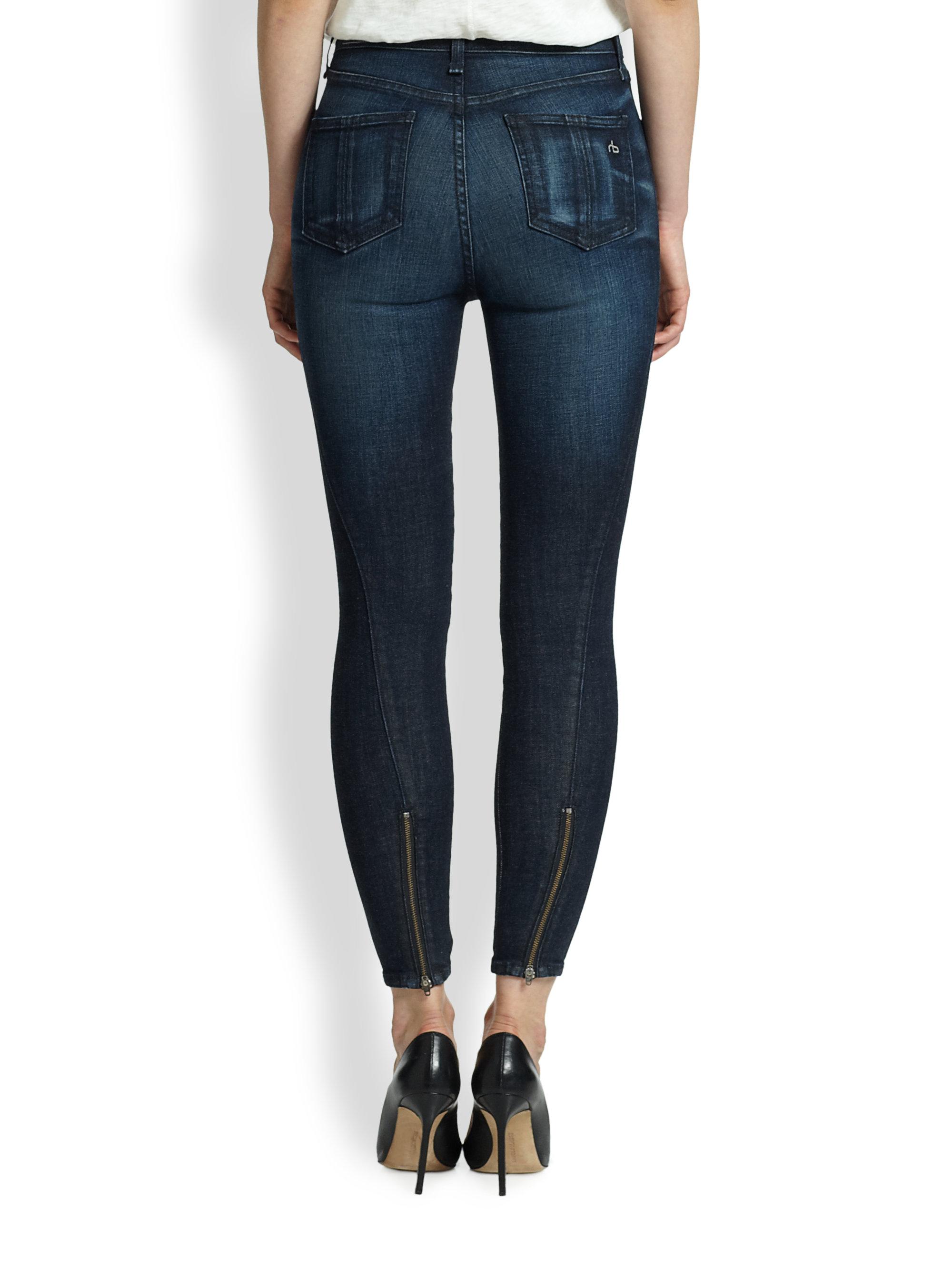 Taille Jean Haute D'os Chiffon Slim Bleu Et H3pl5uk0pu jcR3L5AqS4