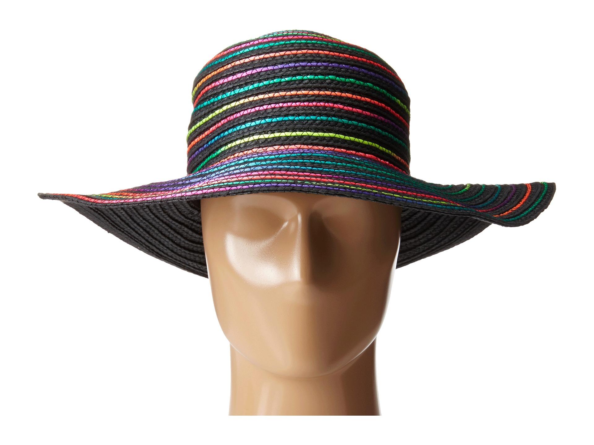 724900f6bfb483 Betsey Johnson Rainbow Swirl Floppy Hat in Gray - Lyst