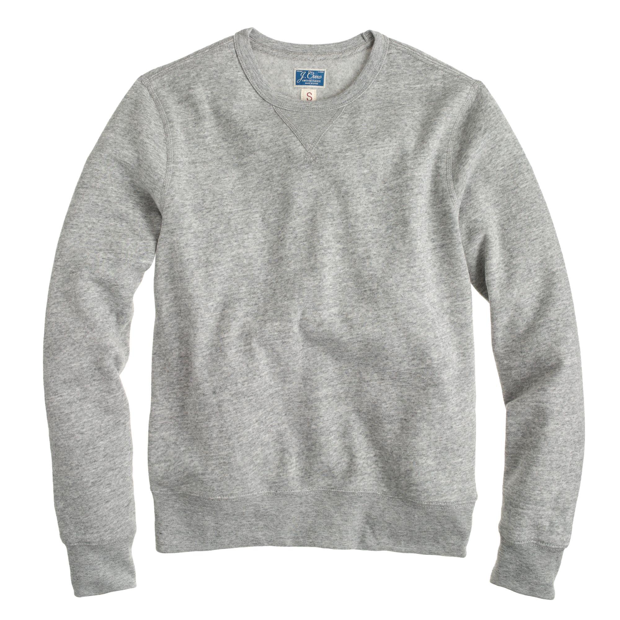 J.crew Preorder Slim Lightweight Crewneck Sweatshirt in Gray for ...