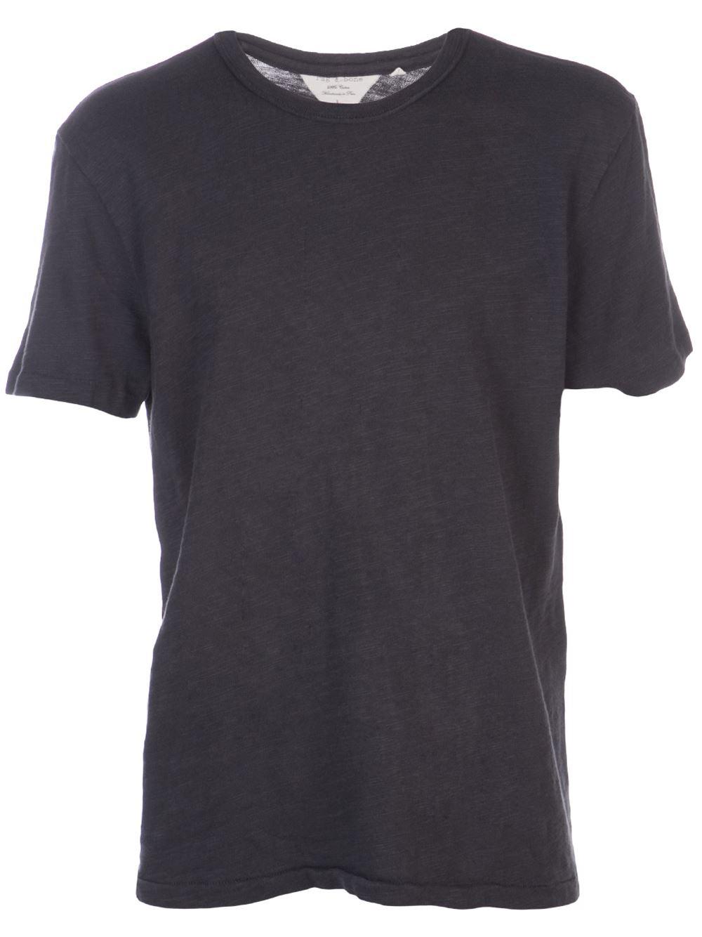 Rag bone basic t shirt in black for men lyst for Rag and bone t shirts