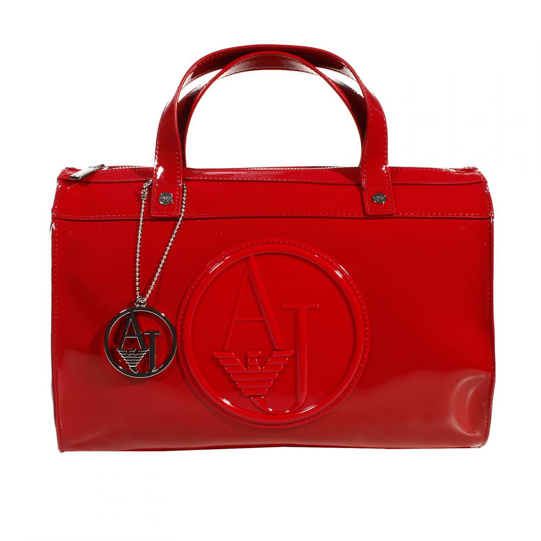 078bc3aba292 Lyst - Giorgio Armani Handbag Trunk Bag Patent Leather 31X25X16 Cm ...