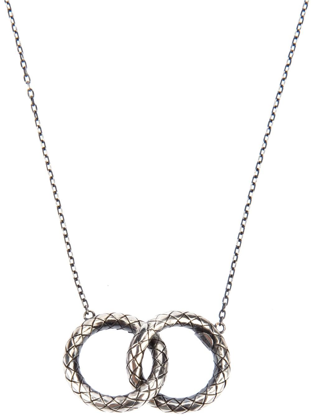 Bottega Veneta Dichotomy Intrecciato drop necklace 6W55QnnQ4
