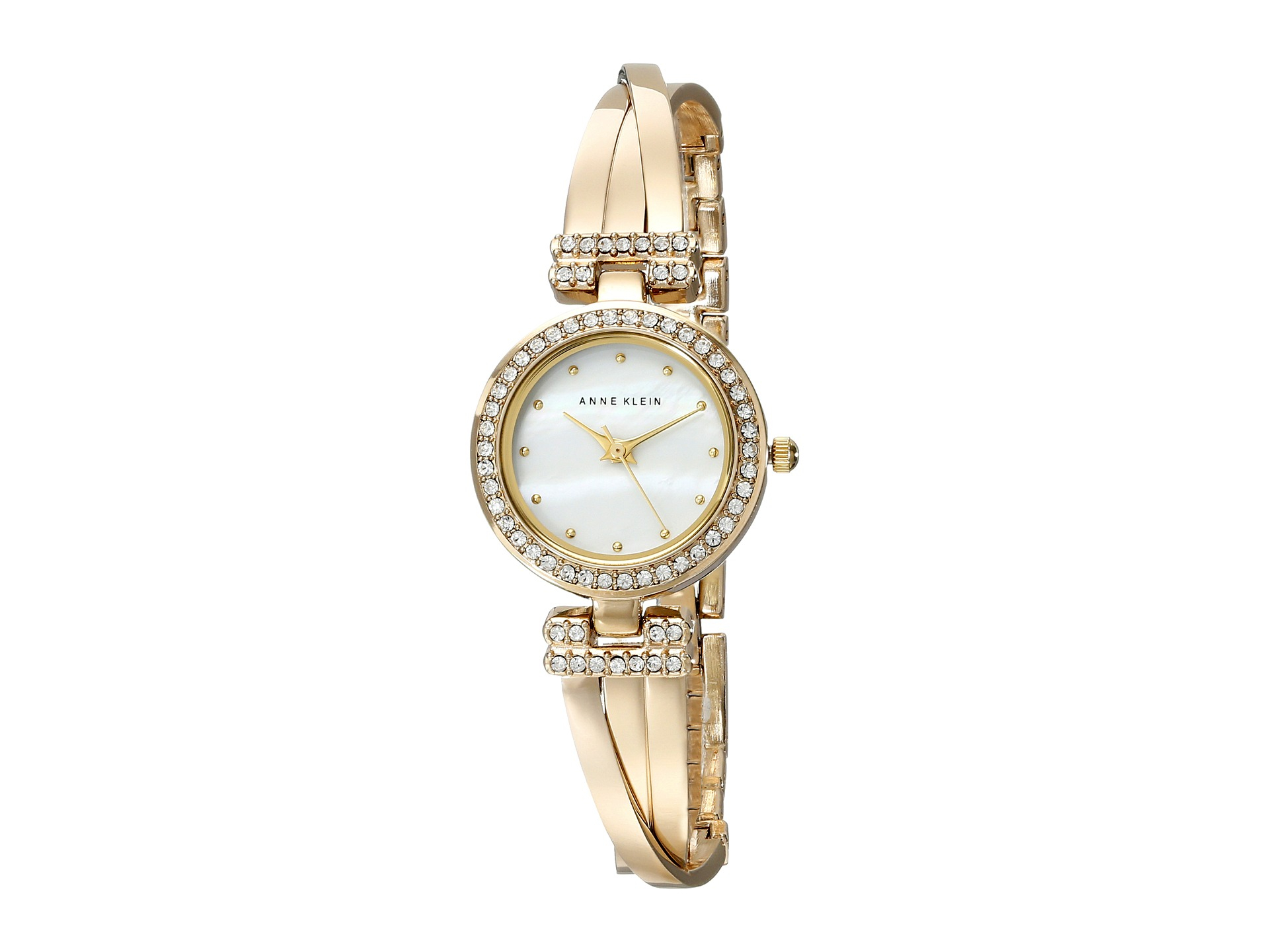Anne klein bangle watch and bracelet boxed set in gold gold tone lyst for Anne klein gold watch