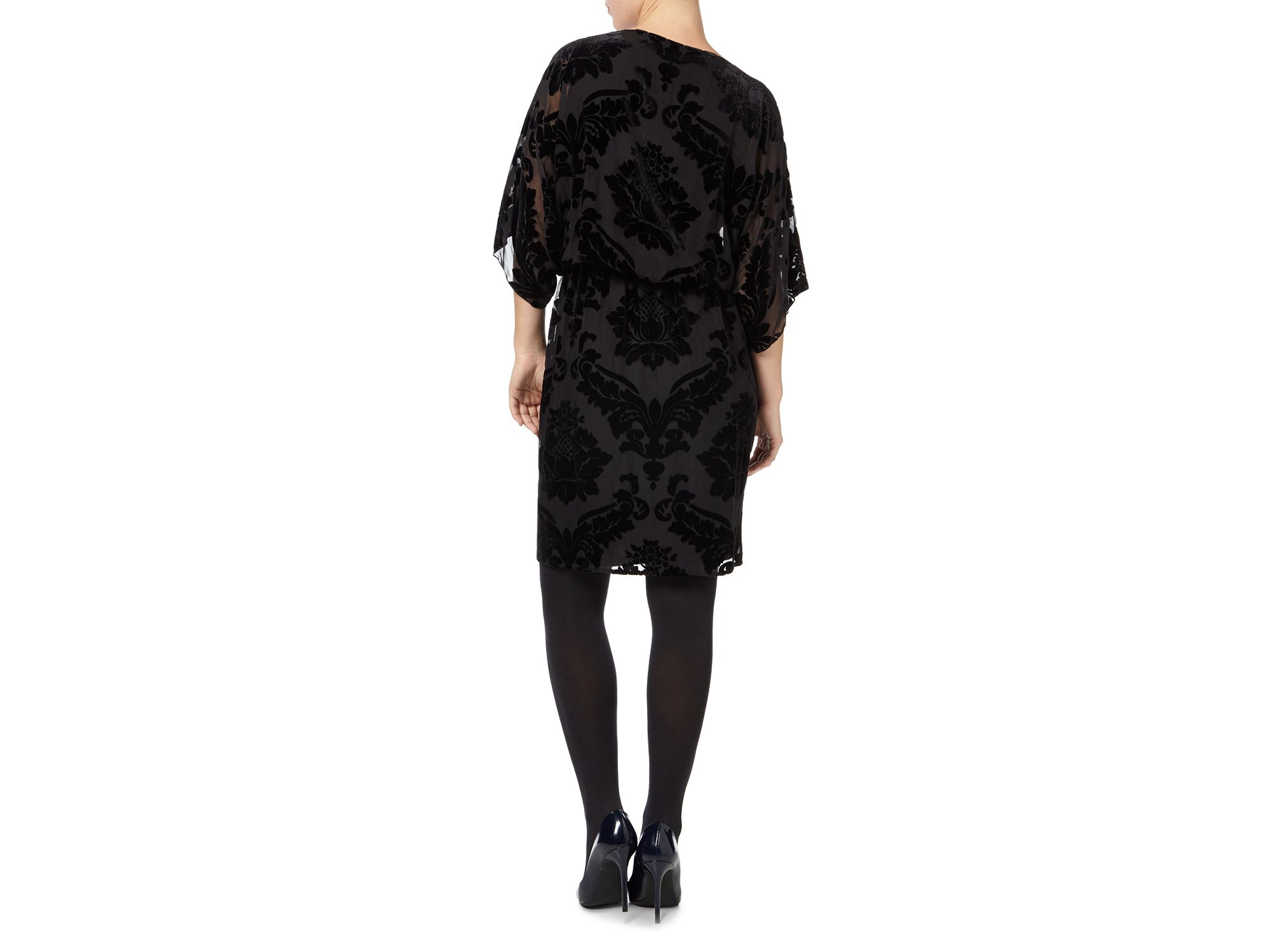 phase eight didi devore dress in black