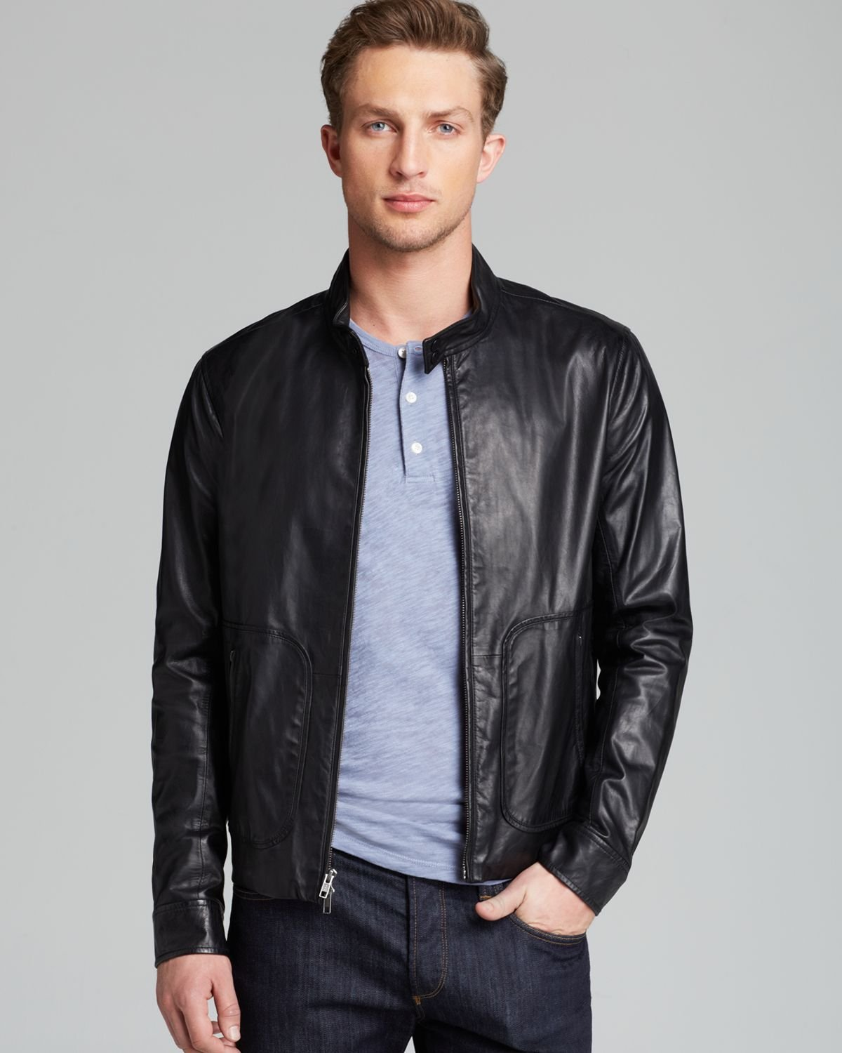 Guy in leather jacket