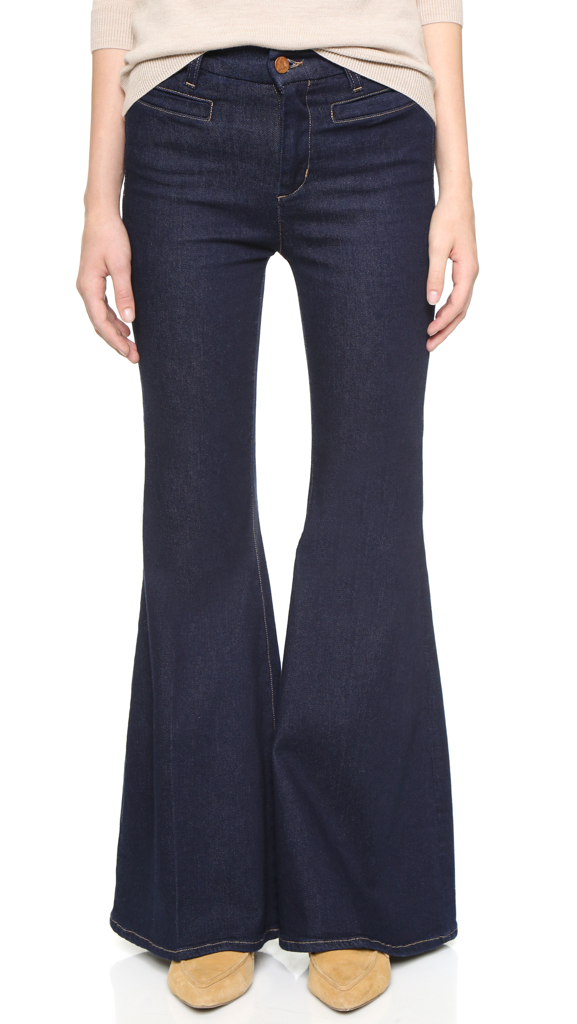 M.i.h jeans The Principle Petite Super Flare Jeans in Blue | Lyst