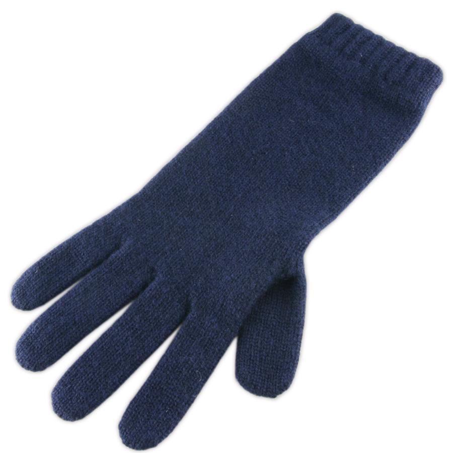 Blue leather gloves ladies uk -  Black Co Uk Las Navy Blue Cashmere Gloves In Blue Lyst