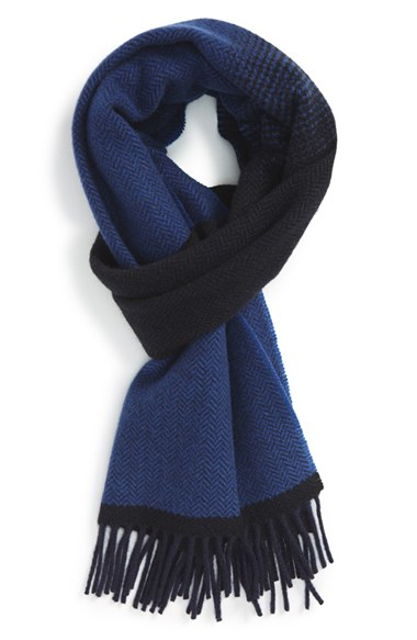 045841dc0 Lyst - Ted Baker Herringbone Cashmere Scarf in Blue for Men