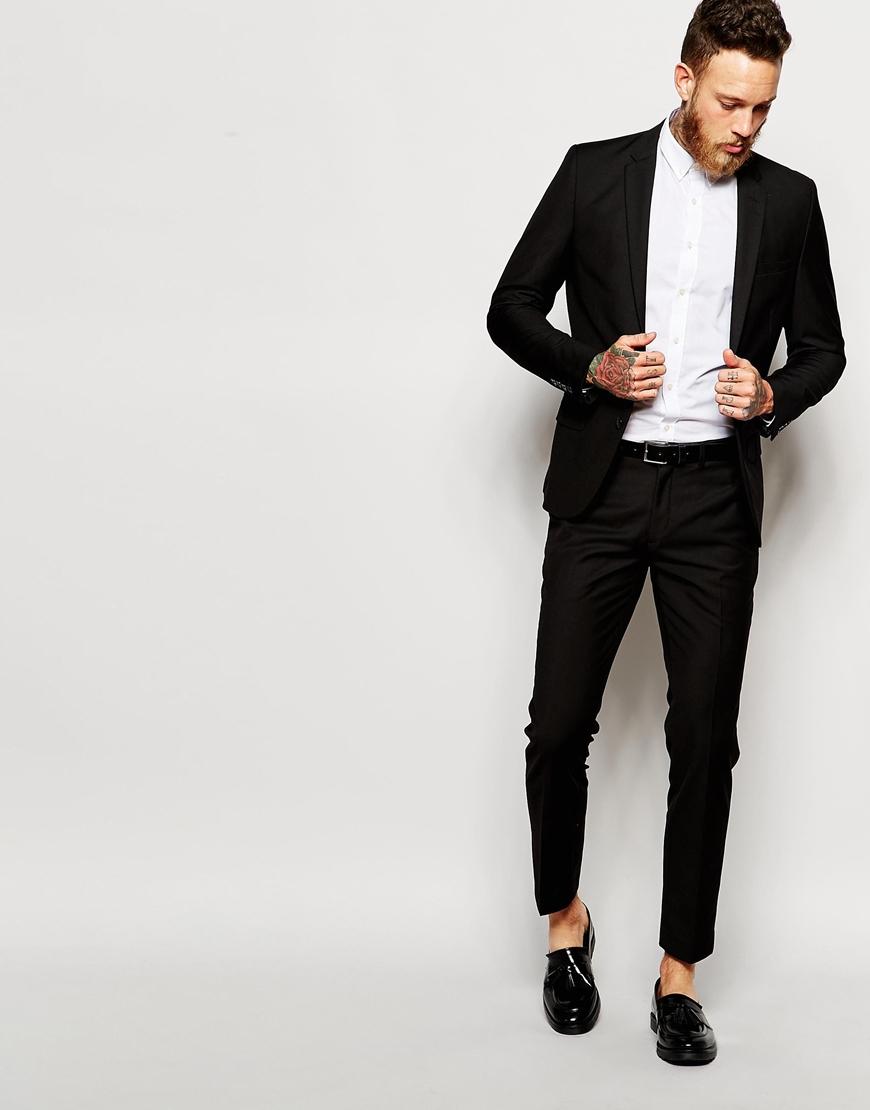 Slim Fit Black Suit Trousers - Suit La