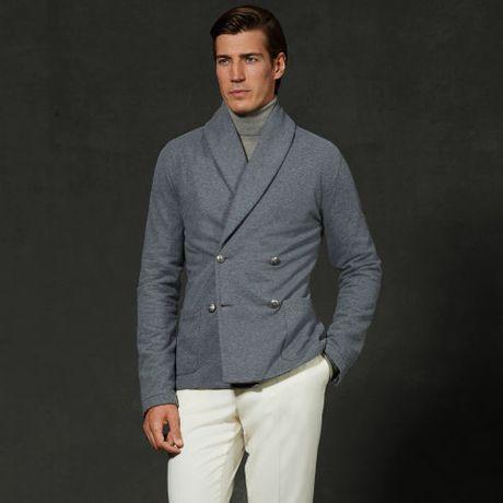 Sweater Under Blazer Sweater Blazer in Gray For