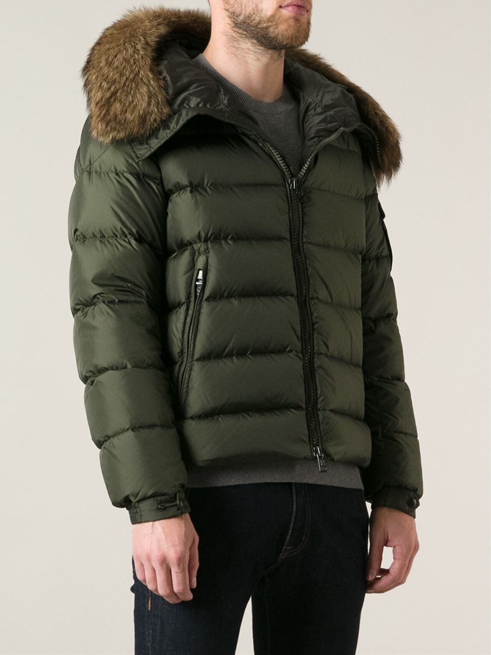 moncler green bomber jacket