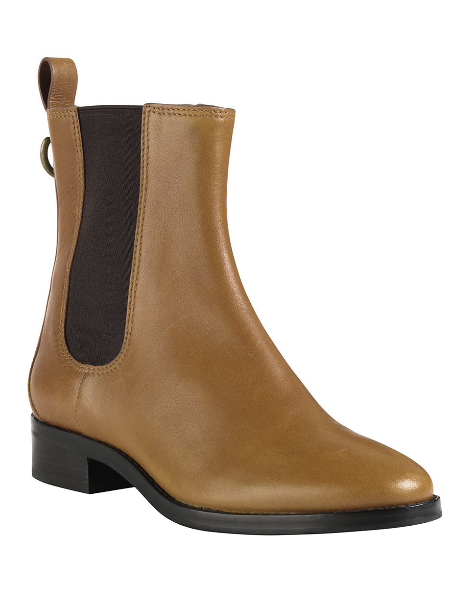 cole haan evan waterproof leather ankle boots in brown lyst