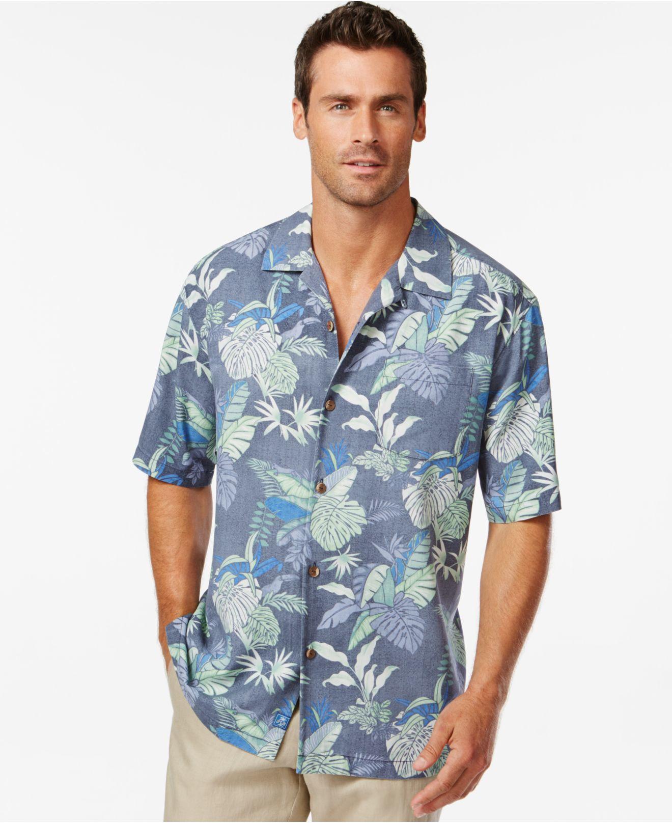 Tommy Bahama Toucan Hideaway Silk Short-sleeve