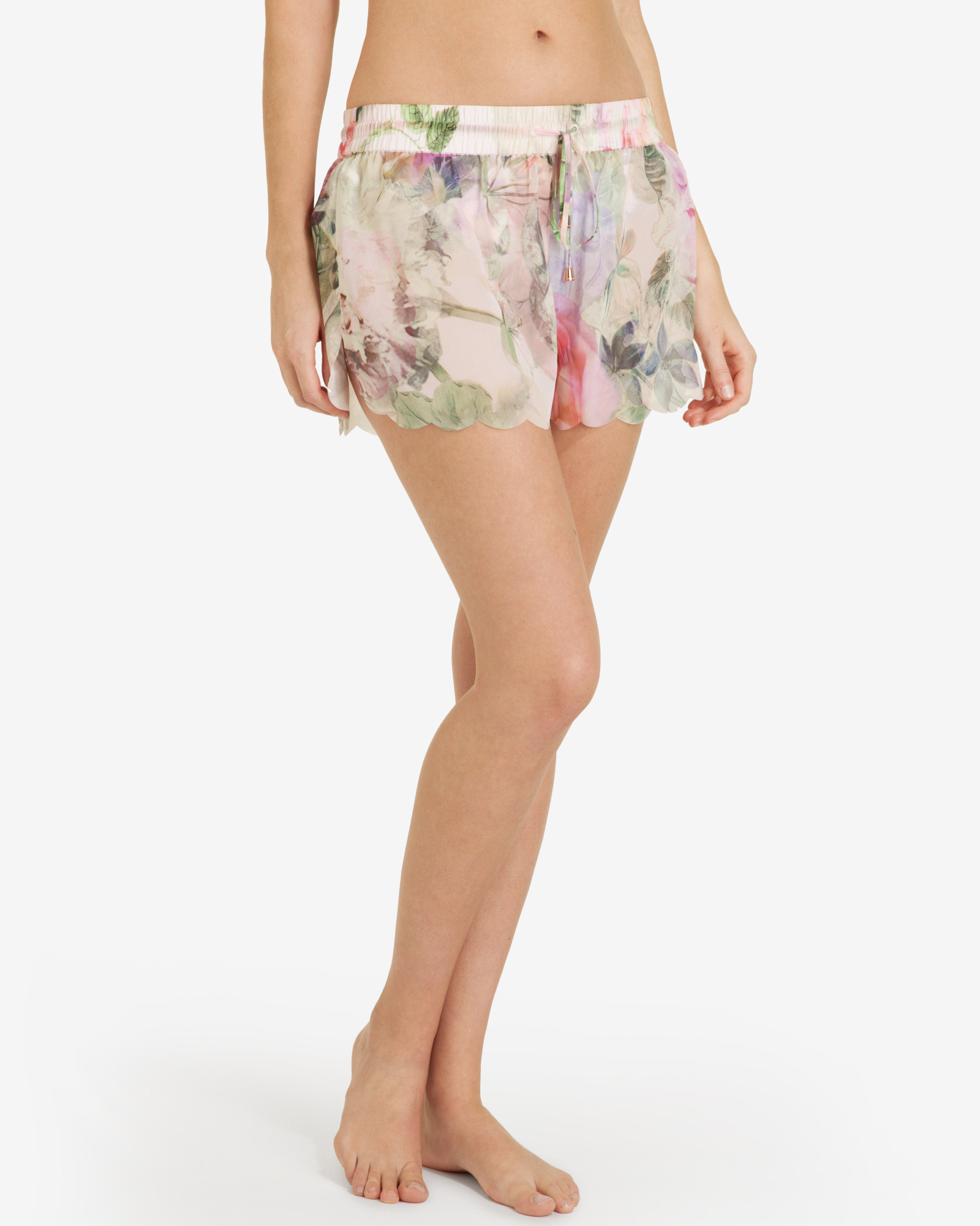 76493f7fb Lyst - Ted Baker Pure Peony Shorts in Pink