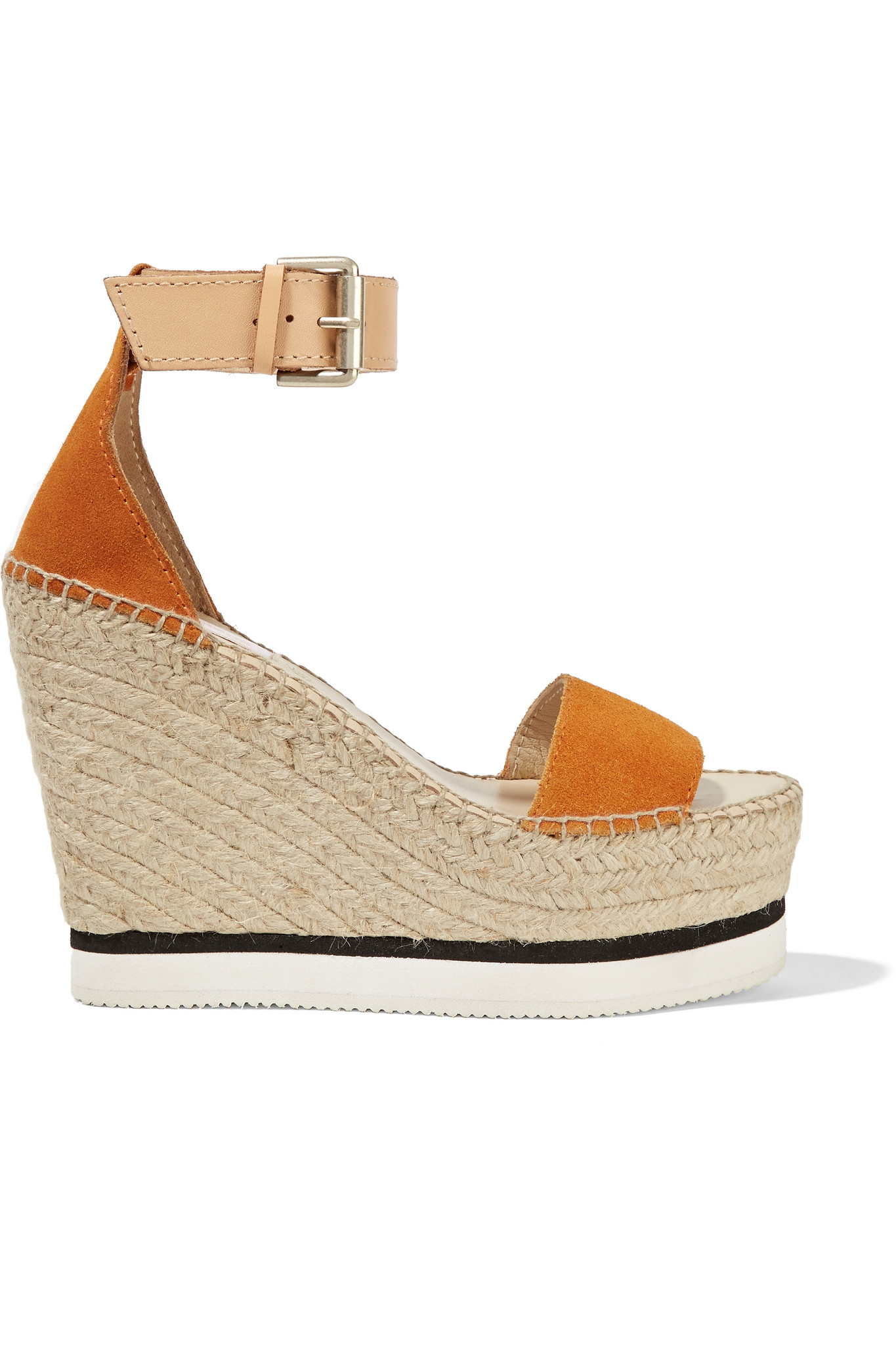 e37811bb77e99 Lyst - See By Chloé See By Chloé Suede And Leather Espadrille Wedge ...