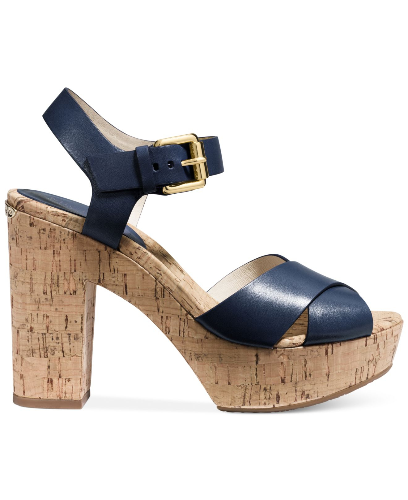 michael kors michael platform sandals in blue lyst