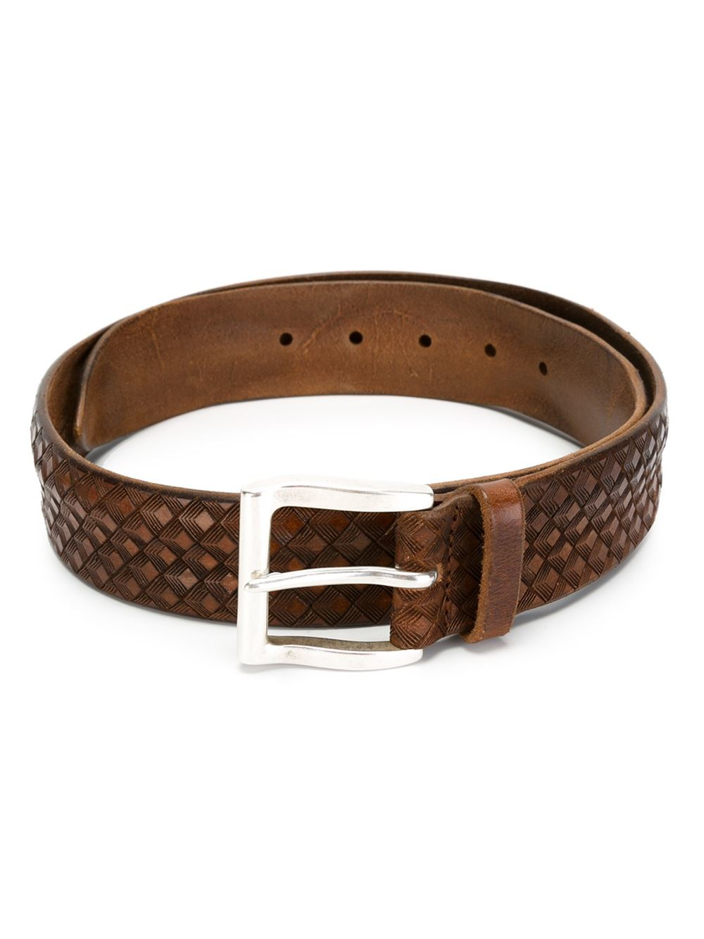 orciani buckle belt in brown for lyst