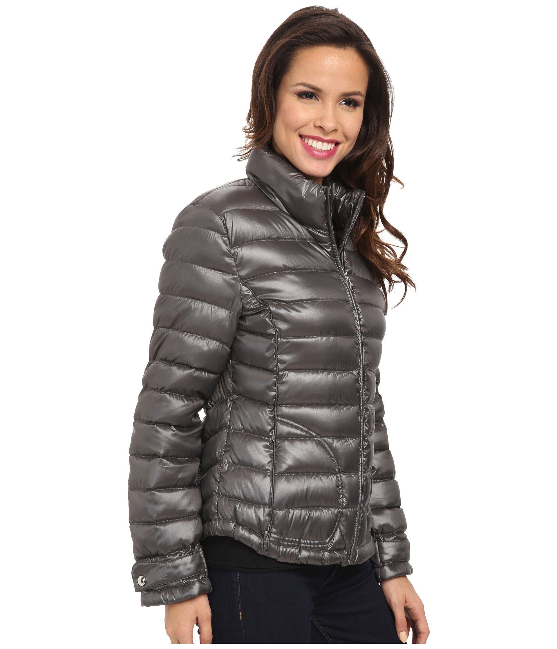 Lyst Calvin Klein Zipfront Puffy Packable Down Jacket In