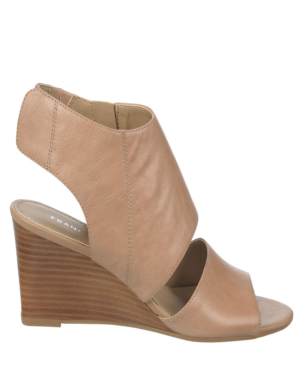 franco sarto kressa wedge sandals in beige taupe lyst