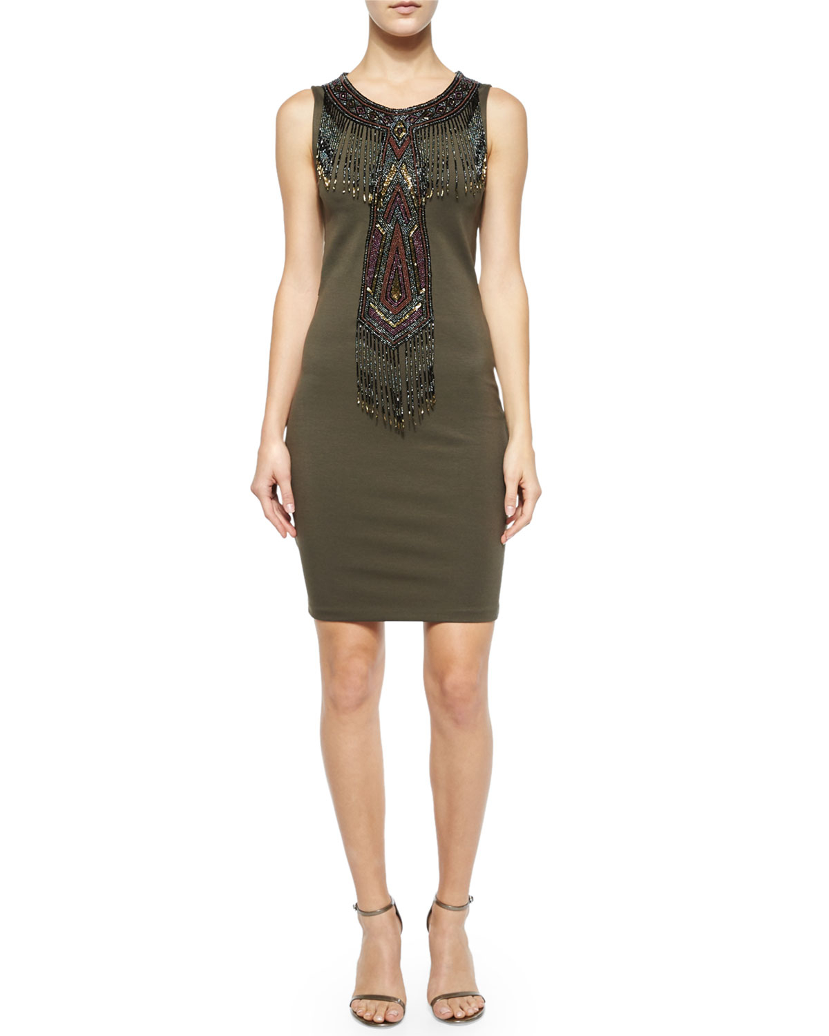 Haute hippie geometric embellished sleeveless dress in for To have and to haute dress