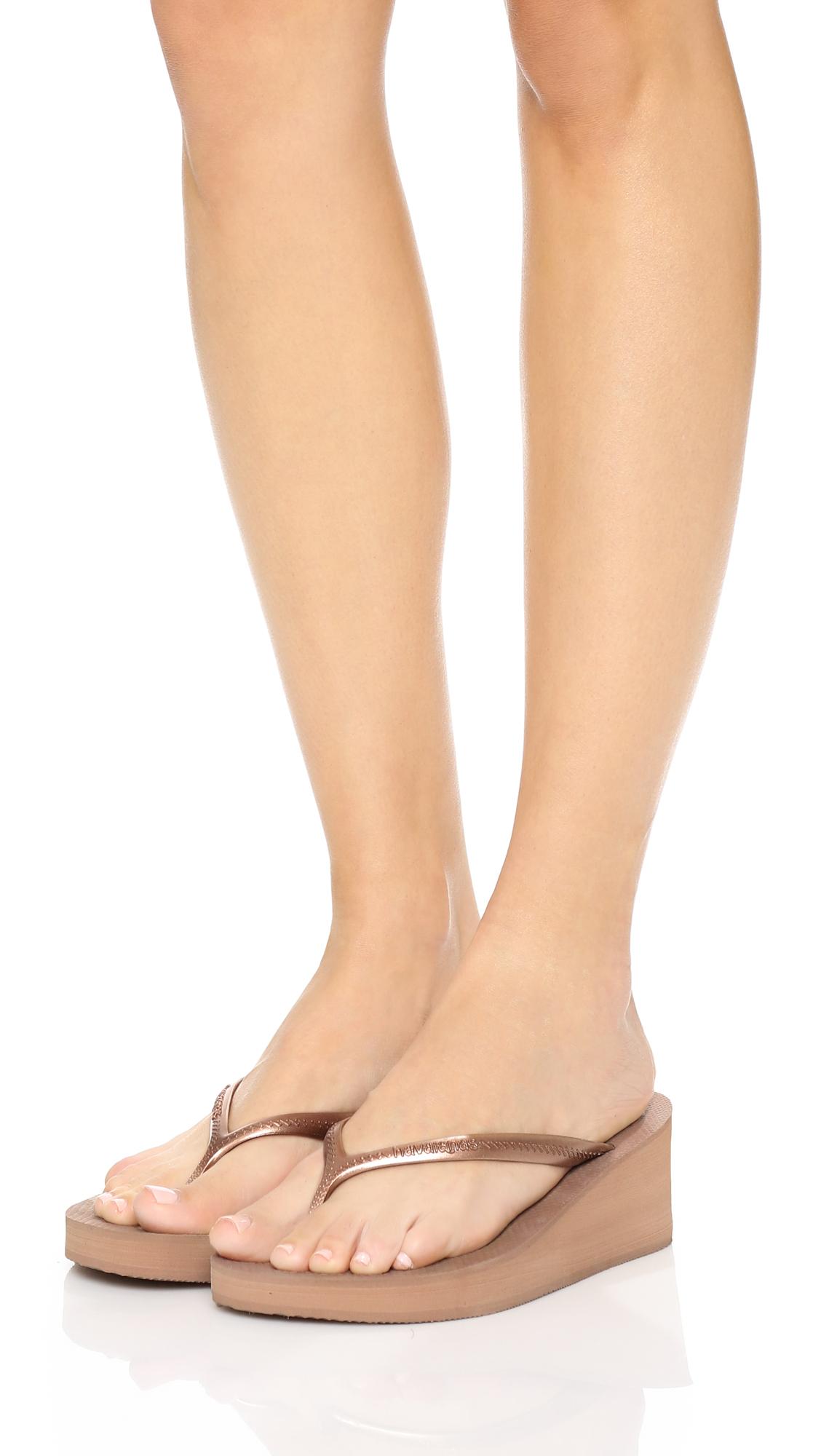 8bd222889 Lyst - Havaianas High Fashion Wedge Flip Flops