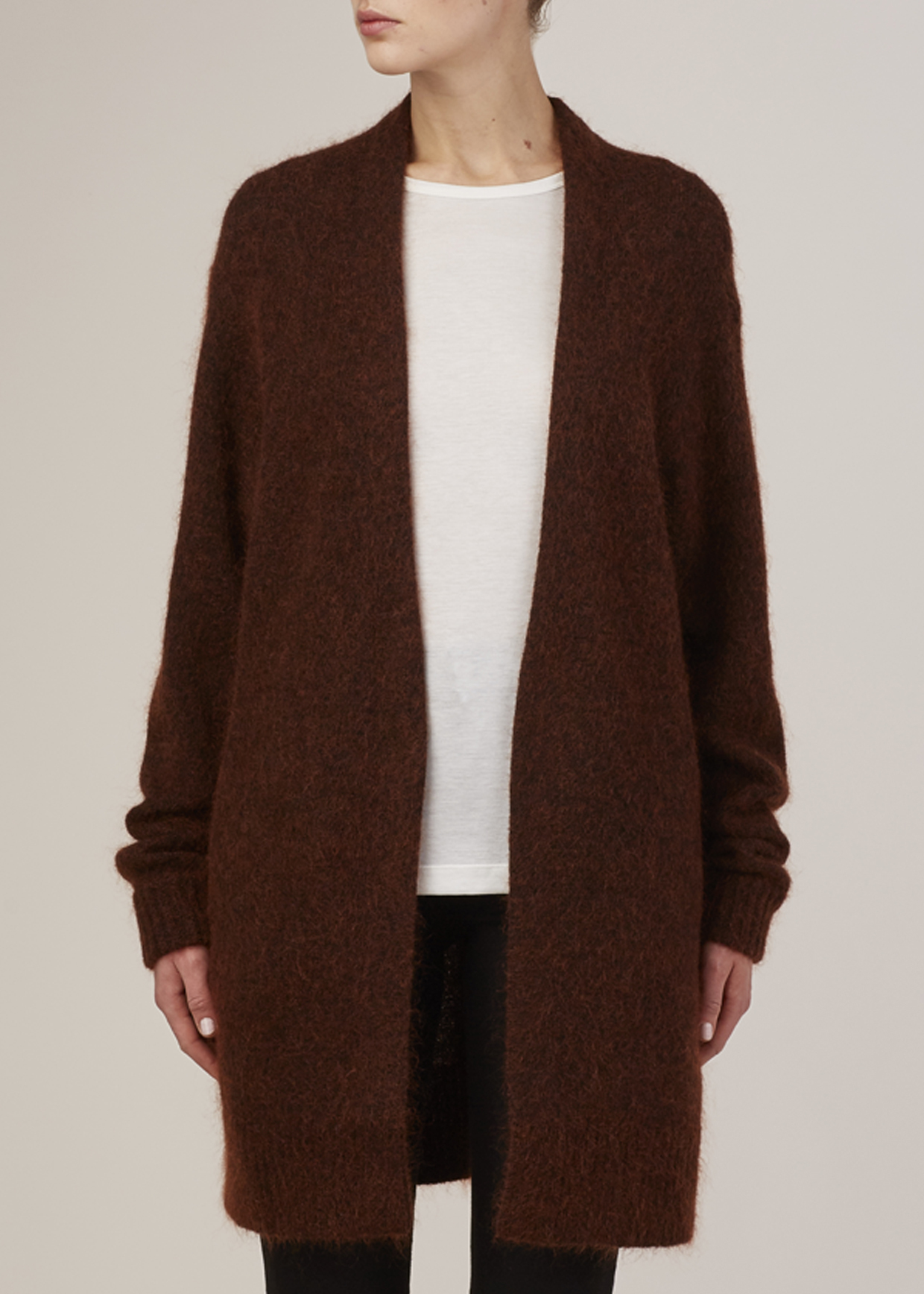 Acne studios Rust Brown Raya Mohair Cardigan in Brown | Lyst