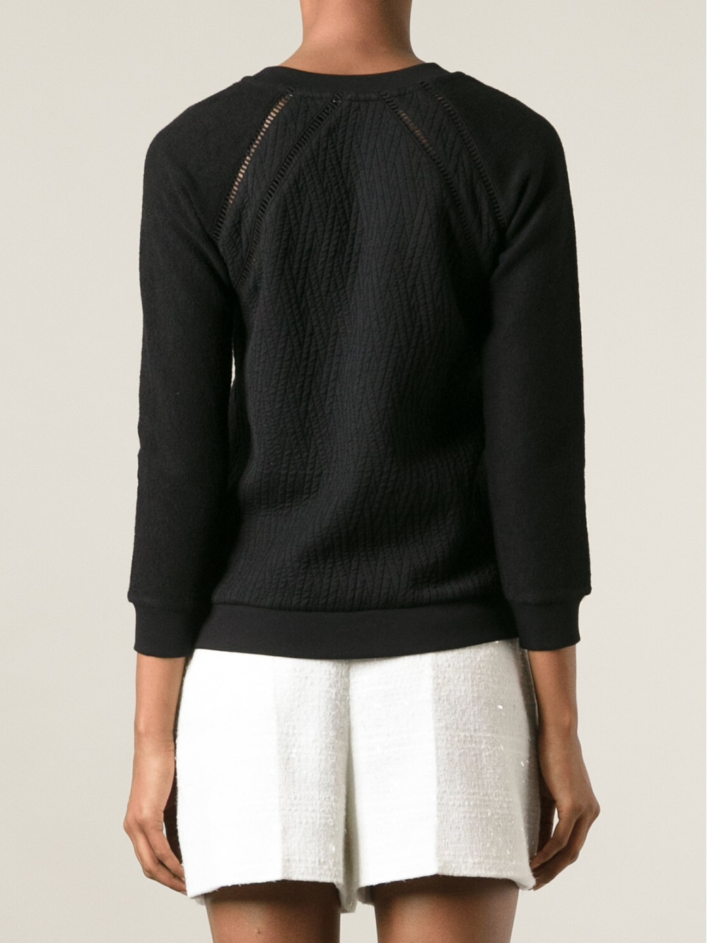 marc by marc jacobs quilted sweater in black lyst. Black Bedroom Furniture Sets. Home Design Ideas
